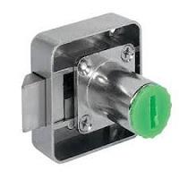 khóa vuông then gài lò xo- tâm lỗ khóa đến mép cửa 25mm