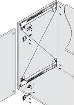 Phụ kiện ray trượt tủ TV lọt lòng và trùm ngoài EXL, cho cửa nặng tối đa 16kg