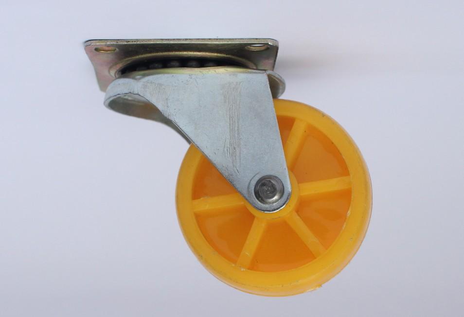 Bánh xe vàng nghệ 5 phân 2 vòng không khóa