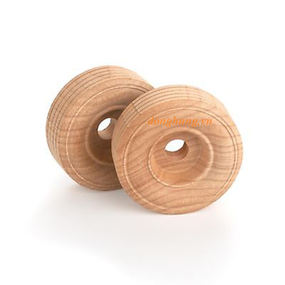 Bánh xe gỗ cao su 20mmx80mm lỗ tâm 11mm