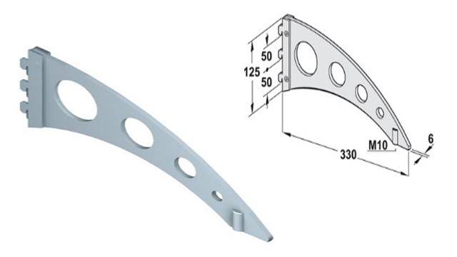 Phụ kiện pjuk cho thanh chân đỗ tròn loại tiêu chuẩn, lắp bên hông