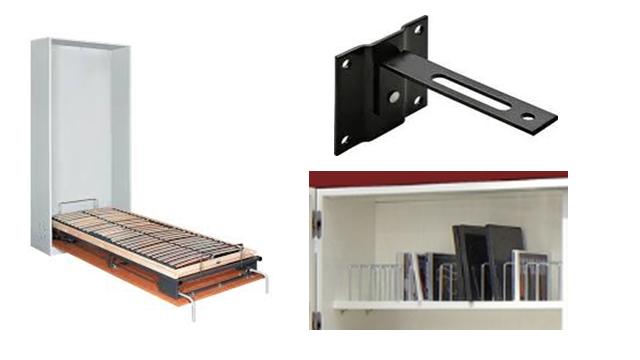 Giường xếp có dát nhiều thanh gỗ mỏng được điều khiển bằng điện