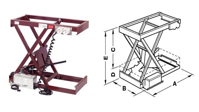 hệ thống nâng sử dụng điện với cấu trúc hình kéo, chịu tải 80-150kg