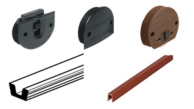 phụ kiện cửa trượt lọt lòng cửa nặng tối đa 12kg, độ dày cửa tối thiểu 16mm