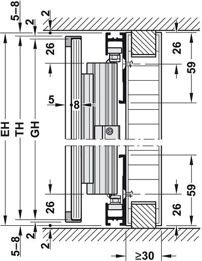 Cửa trượt Hawa Concepta 25/30 cho cửa kính