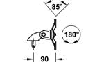 Kẹp với tay giữ màng hình ngắn, không thể diều chỉnh chiều cao