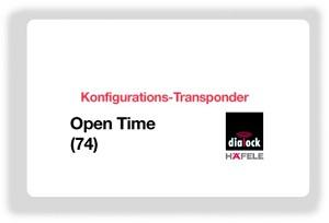 Chìa  thẻ cấu hình Open Time 74