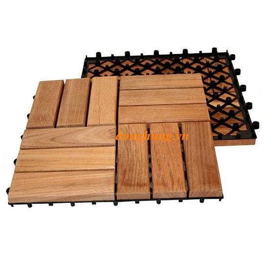 Ván sàn gỗ ngoài trời 12 nan