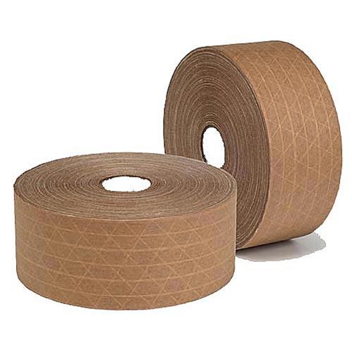 Băng keo giấy nâu 75mm x 45m ( thấm nước, có sợi chỉ)
