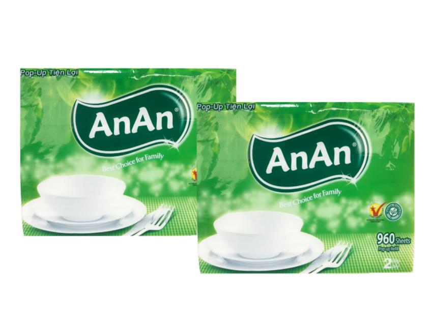 Khăn giấy AnAn Pop-Up Tiện Lợi